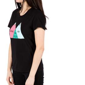 POLER Venn T-paita Naiset, black